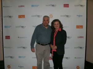 Producer Salvatore Alaimo with festival director Katha Cato