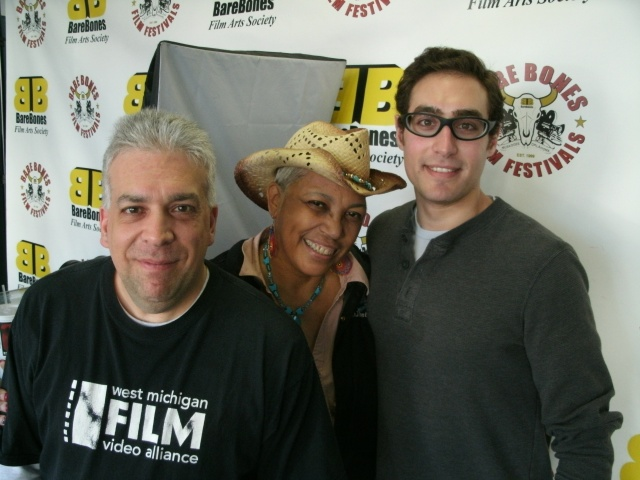 (l-r) producer Alaimo, festival co-founder Shiron Ray and cameraman Aaron Bannasch