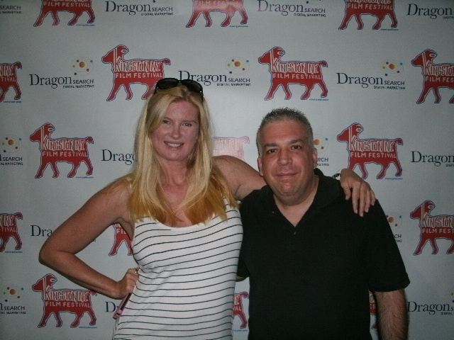 Producer Salvatore Alaimo with festival co-founder Astrid Cybele