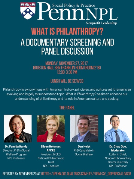 What is Philanthropy Flyer - Penn