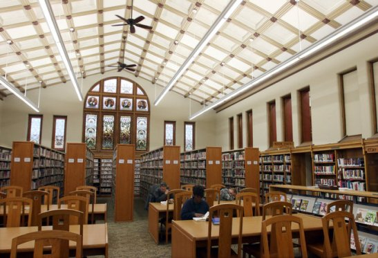 INSIDE OF PUBLIC LIBRARY